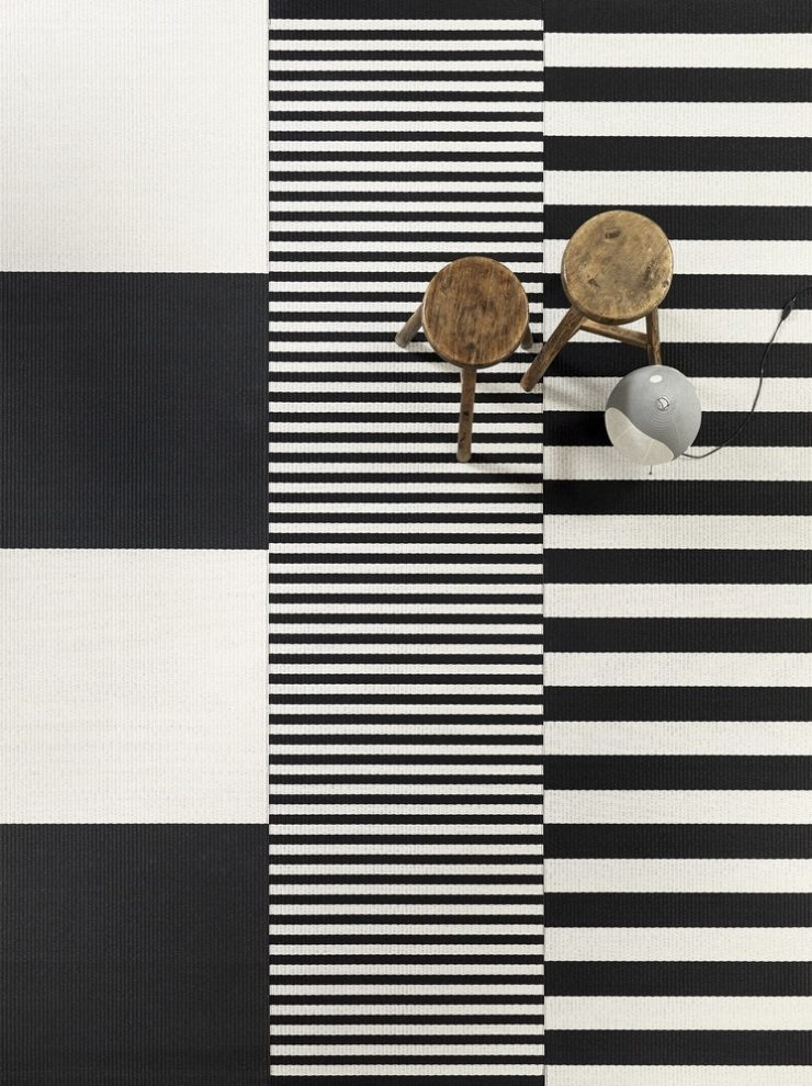 Big Stripe and Stripe carpets