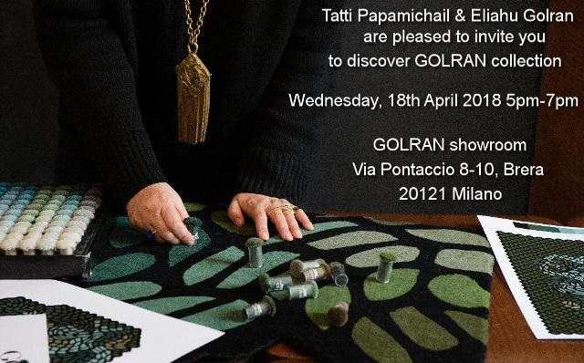 GOLRAN Collection Presentation April 2018 Milano