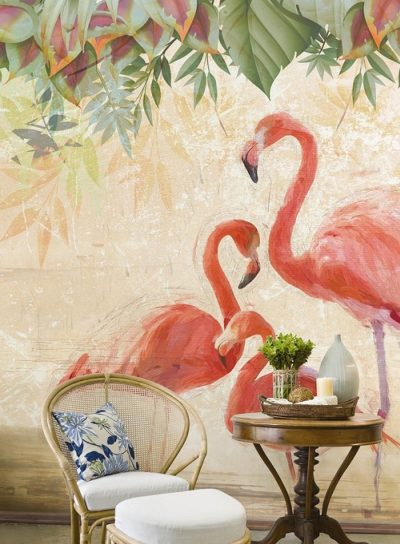 WallPepper-Ambiente-Flamingos-party