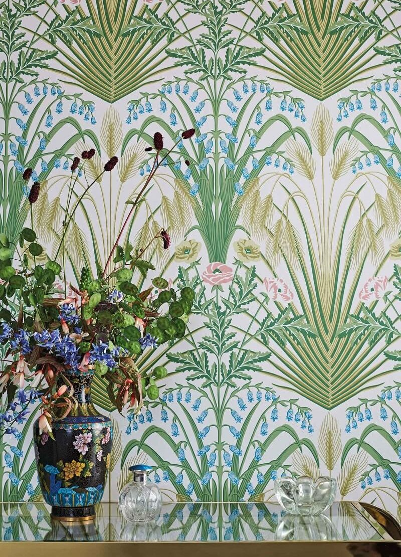 CRIPE-COLE and SONS-Wallpapers-Botanical Botanica-Bluebell