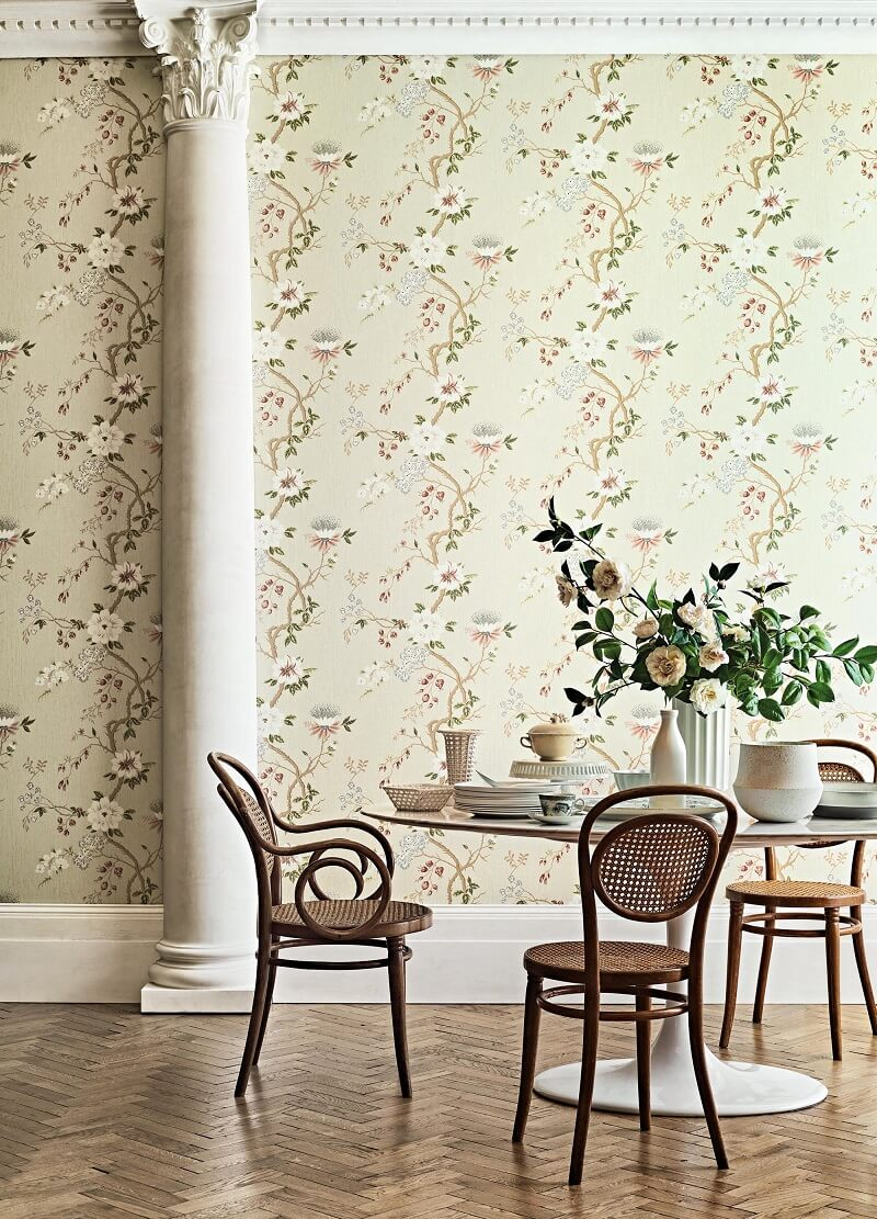 CRIPE-COLE and SONS-Wallpapers-Botanical Botanica-Camellia