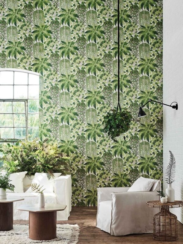 CRIPE-COLE and SONS-Wallpapers-Botanical Botanica-Fern-dryopteris
