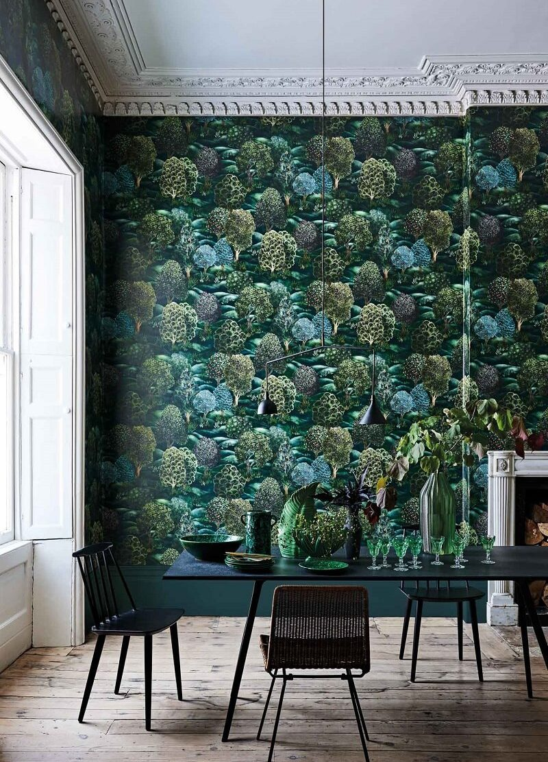 CRIPE-COLE and SONS-Wallpapers-Botanical Botanica-Forest-silva