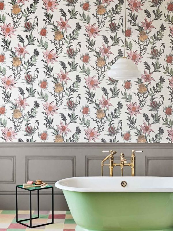 CRIPE-COLE and SONS-Wallpapers-Botanical Botanica-Thistle