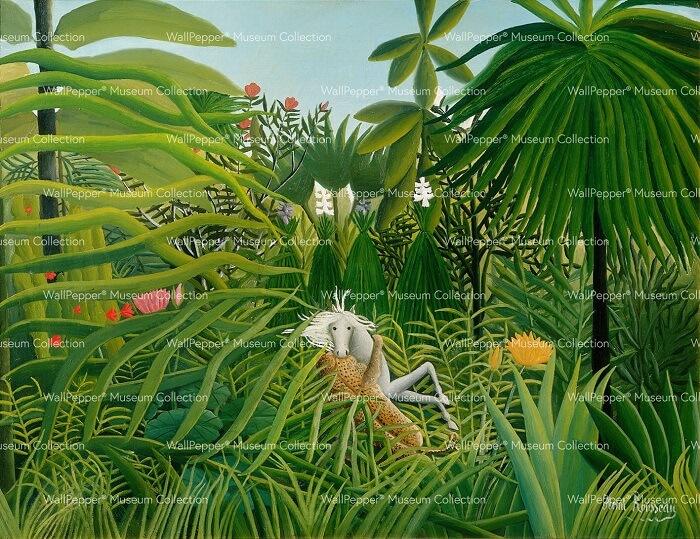 CRIPE-WallPepper-Museum-Giungla-con-cavallo-assalito-da-un-giaguaro