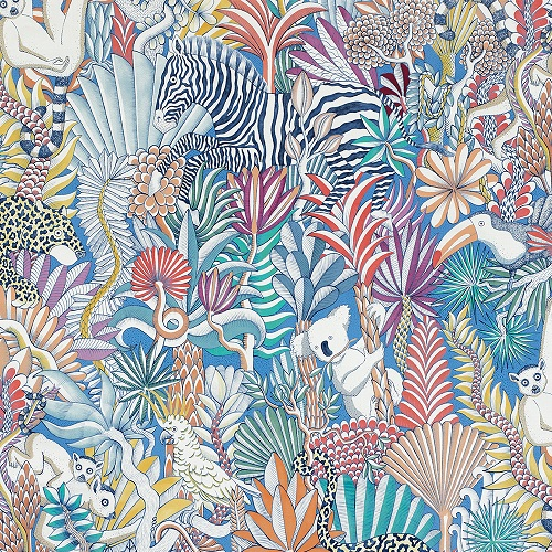 HERMES-2019-FABRICS-ANIMAUX CAMOUFLES TROPICAL