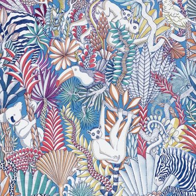 HERMES-2019-WALLPAPER-ANIMAUX CAMOUFLES TROPICAL