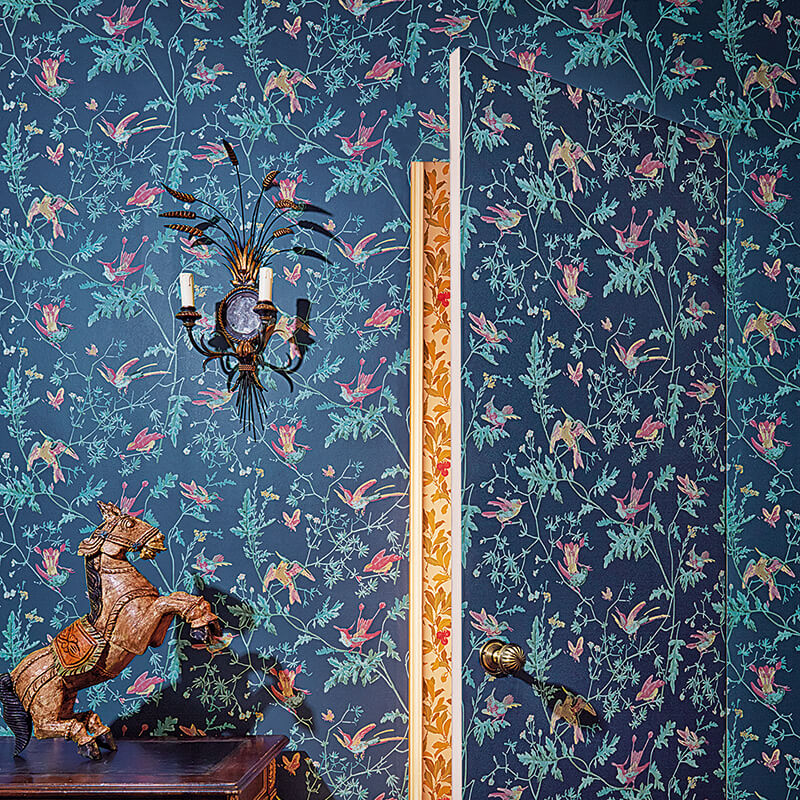 CRIPE-COLE and SONS-Wallpapers-Archive Anthology-Hummingbirds