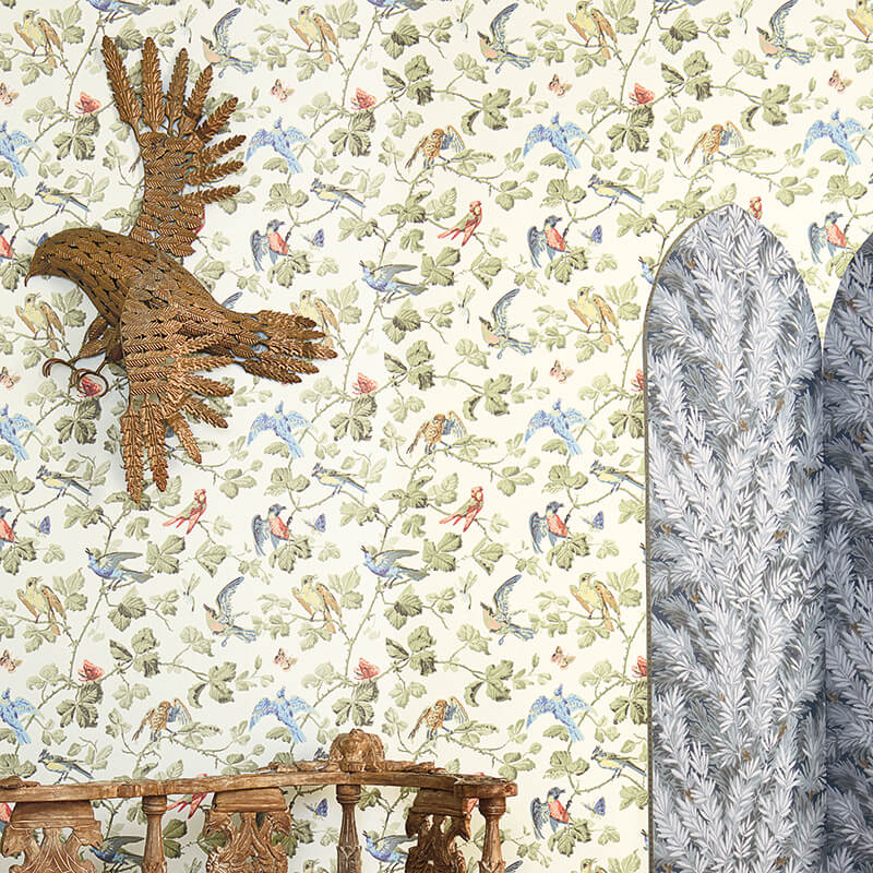 CRIPE-COLE and SONS-Wallpapers-Archive Anthology-Winter-Birds