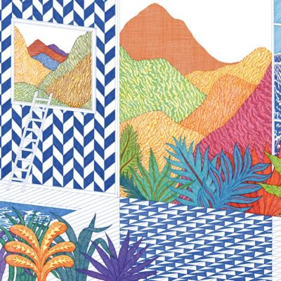 Hermes-2020-wallpapers-DECOR MURAL TROPICAL SWIM
