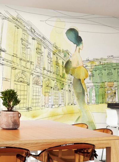 Wallpepper-Nuances-Watercolor-and-palazzo-serbelloni-woman-in-style